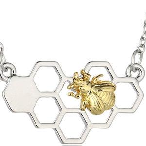 Jewelry - Honey Bee Hexagon Comb Necklace